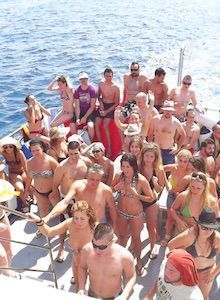 Boat Platja d'Aro parties and stag parties